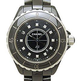 Chanel J12 H1625 Ceramic Black Diamond Dial Quartz 33mm Womens Watch