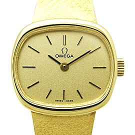 Omega 711.8438 18K Yellow Gold 22mm Womens Watch