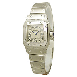 Cartier Santos Garve W20056D6 Stainless Steel 23mm Womens Watch