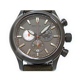Brera Orologi Eternello BRET3C4304 Stainless Steel / Leather Quartz 43mm Mens Watch