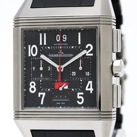 Jaeger LeCoultre Reverso 231.T.50 Stainless Steel / Rubber Automatic 36mm Mens Watch