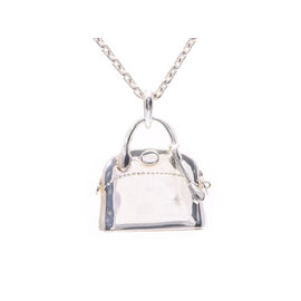 Hermes Silver Tone Hardware Necklace