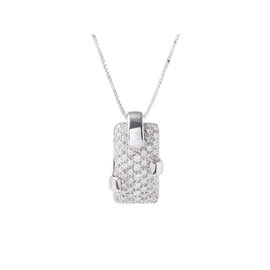 Damiani 18k White Gold Pave Diamond Necklace