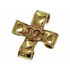 Chanel Coco Mark Gold Tone Hardware Brooch