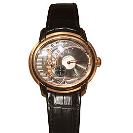 Audemars Piquet Millenary 18K Rose Gold Automatic Watch