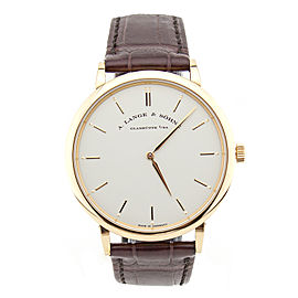 A. Lange & Sohne Saxonia 220514 18k Rose Gold 40 mm Quartz Mens Watch