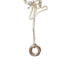 David Yurman Crossover Small 14K Yellow Gold & Sterling Silver Pendant Necklace