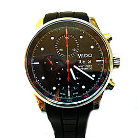 Mido Multifort Leather Strap Automatic Chronograph 44mm Mens Watch