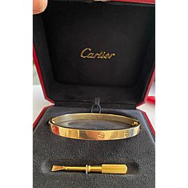 Cartier 18k Yellow Gold Love Bracelet Size 21