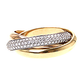 Cartier Trinity Tri Color Gold Ring