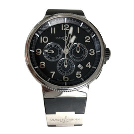 Ulysse Nardin Marine Chronograph 1503-150-3/62 Stainless Steel / Titanium 43mm Automatic Mens Watch