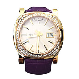 Bedat & Co 888 Solid 18K Gold & Diamond Bezel Womens Watch