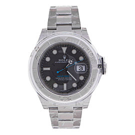Rolex Yacht-Master 40 Dark Rhodium Dial Steel Oyster Mens Watch