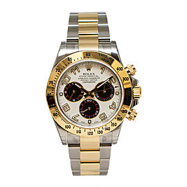 Rolex Daytona 116523 IBKAO Ivory Chronograph Automatic Ivory Dial Stainless Steel and 18K Yellow Gold Men's Watch