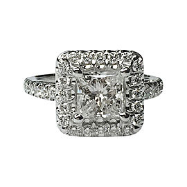 18K White Gold & Diamonds Ring