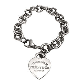 Tiffany & Co. Sterling SilverReturn to Tiffany Heart Tag Charm Bracelet
