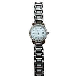 Bulova C637530 Stainless Steel Diamond & Mother of Pearl 25mm Watch
