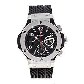 Hublot Big Bang Steel 44mm 301.sx.130.rx Black Rubber Watch