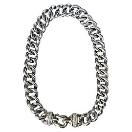 David Yurman Sterling Silver & Diamonds Chain Necklace