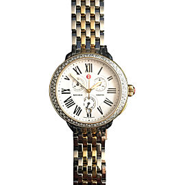 Michele Serein 18K Yellow Gold & Stainless Steel Diamond 40mm x 38mm Watch