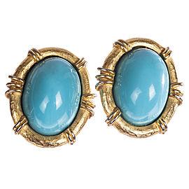 Geoffrey Beene Faux Sleeping Beauty Turquoise Earrings
