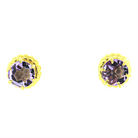Ippolita 18K Gold Rock Candy Amethyst Round Stud Earrings
