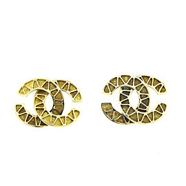 18k Yellow Gold Chanel Style Earrings