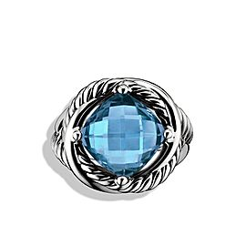 David Yurman Sterling Silver & Blue Topaz Infinity Ring Sz 7