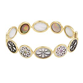 Ippolita Rock Candy 18K Yellow Gold with Mother of Pearl Bangle Bracelet