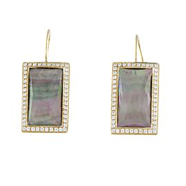 Ippolita 18K Yellow Gold Diamond and Mother of Pearl Earrings