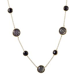 Ippolita 18K Yellow Gold Quartz Onyx and Mother of Pearl Necklace