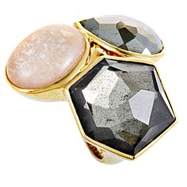 Ippolita Rock Candy 18K Yellow Multi-Colored Stones Cocktail Ring Size 7.25