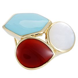 Ippolita Rock Candy 18K Yellow Multi-Colored Stones Cocktail Ring