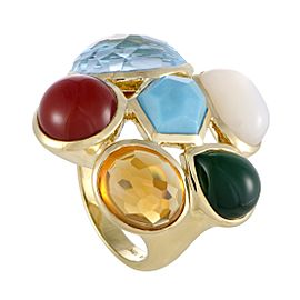 Ippolita Rock Candy 18K Yellow Gold Multi-Colored Stones Cocktail Ring Size 7.25