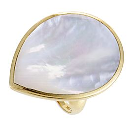 Ippolita Rock Candy 18K Yellow Gold Mother of Pearl Teardrop Ring