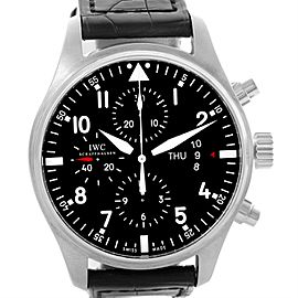 IWC Pilot IW377701 Stainless Steel Black Dial Chronograph Automatic 43mm Mens Watch