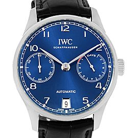 IWC Portugieser IW500710 Stainless Steel & Leather Automatic 42.3mm Mens Watch