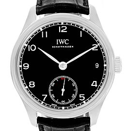 IWC Portuguese IW510202 Stainless Steel Black Dial 43mm Mens Watch