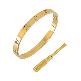 Cartier Love B6035517 Bracelet Yellow Gold Size 17