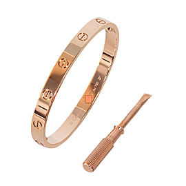 Cartier Love B6035617 Bracelet Rose Gold Size 18