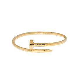 Cartier Juste Un Clou Bracelet Yellow Gold Size 17
