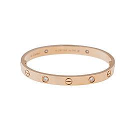 Cartier Love 18K Rose Gold Half Diamond B6036017 Bracelet Size 20