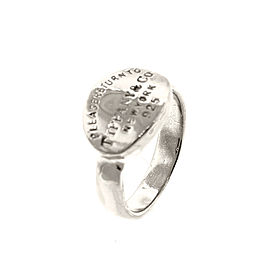 """Silver """"Return To Tiffany"""" Oval Ring"""