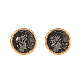 1884 Collection Ottaviano 18K Yellow Gold and Sterling Silver Stud Earrings