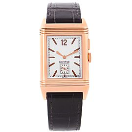 Jaeger LeCoultre Grande Reverso 278.2.54 Q3782520 18K Rose Gold 27.4mm Mens Watch