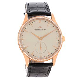 Jaeger Lecoultre Master Q1352502 18K Rose Gold & Diamond 40mm Mens Watch