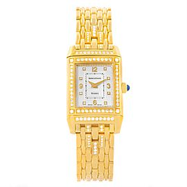 Jaeger LeCoultre Reverso 267.1.86 18K Yellow Gold & Diamond 20.5mm Womens Watch