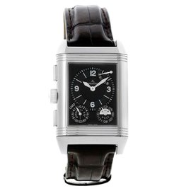 Jaeger LeCoultre Reverso Grande 240.8.18 Q3028420 GMT Stainles Steel 29mm Mens Watch