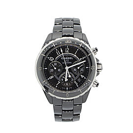 Chanel J12 Black Ceramic 41mm Chronograph Watch