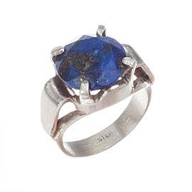 Art Deco Lapis Lazuli Cocktail Ring